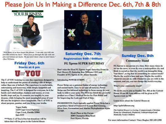 Making a difference in Florida - Dec 6 -8